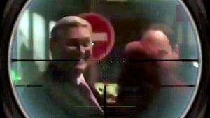 A still image from the video showing Kasyanov