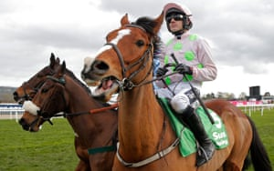 Ruby Walsh on board Faugheen before the start in the Stayers Hurdle, the big race of the day