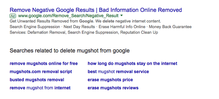 This ad looks like it's an official Google service, but it's not.