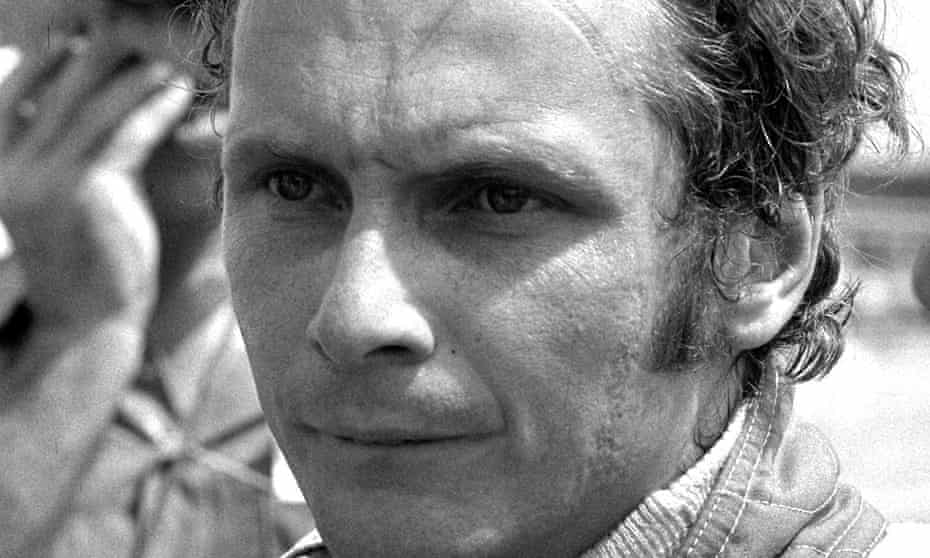 Niki Lauda in 1975, the year he won his first F1 world championship.
