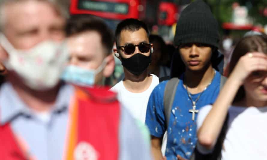 Crowds on Oxford street, London