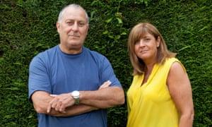Lee Hyams and his wife Debra Isbitt at their home in Hendon.