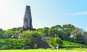 The Tower of Peace at Heiwadai Park in Miyazaki, Japan.