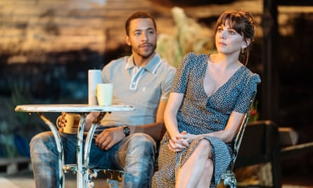 Youthful dreams crushed by quotidian reality … Ukweli Roach (Pete) and Ophelia Lovibond (Lou) in Nightfall.