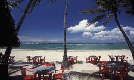 A beach in Dar es Salaam.