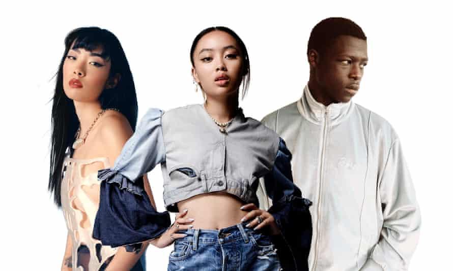Rising stars ... (l-r) Rina Sawayama, Griff and Pa Salieu.