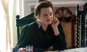 Stomps into each scene like a Russian goth chick … Elisabeth Moss in The Seagull.