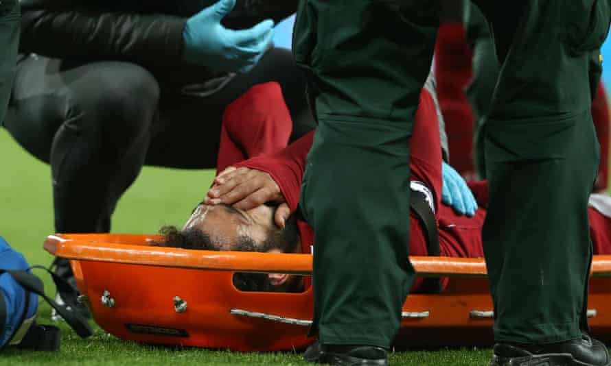 Mohamed Salah was taken off with suspected concussion by Liverpool against Newcastle in 2019.