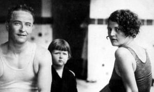 F Scott Fitzgerald with his wife Zelda and their daughter, Scottie, in 1927.