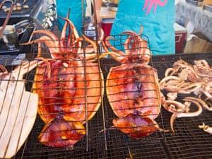 Squid served at Richmond night market