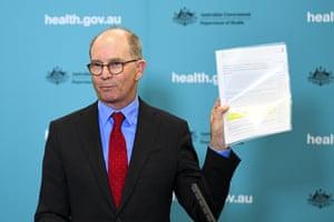 Australian chief medical officer Paul Kelly