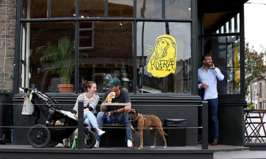 Kofra Coffee Shop in Norwich, England, July 2020.