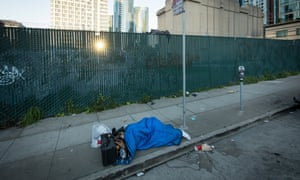 A homeless person in San Francisco. A campaign to block a new homeless shelter has prompted an angry response from the city's mayor.