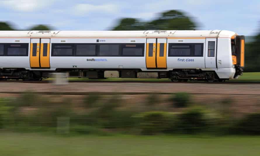 A Southeastern train passing through Kent