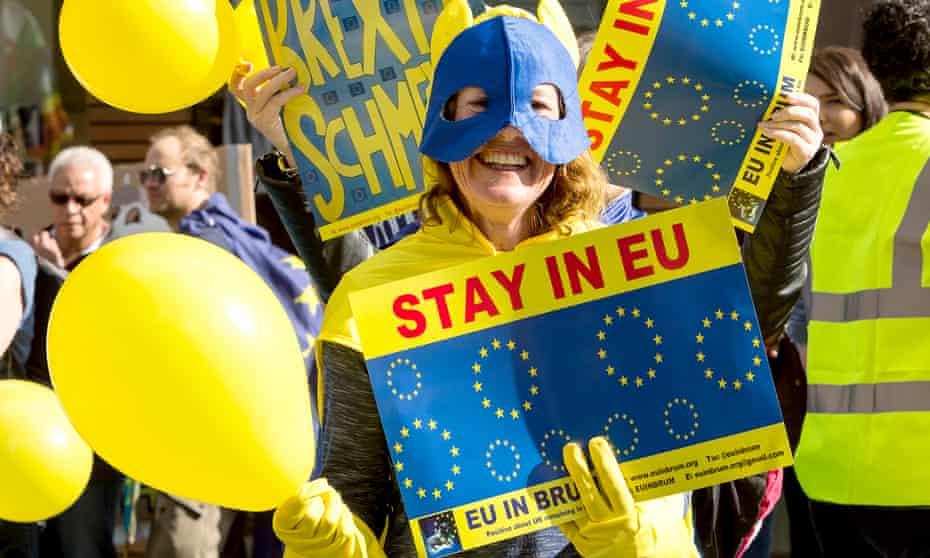 Anti-Brexit protest in Birmingham