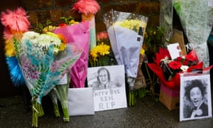 Tributes laid outside Ken Dodd's home in Liverpool