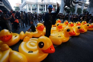 The ducks fast became symbols of the protests