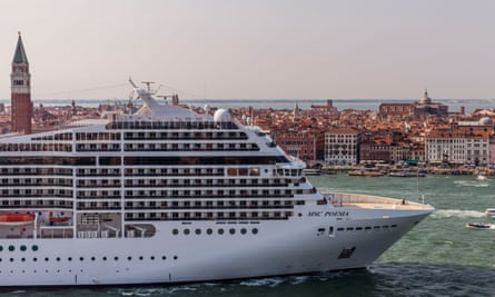 In 2016 Venetians took to the Giudecca Canal in small fishing boats to block the passage of six colossal cruise ships.