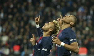 The only way is up for Neymar and Kylian Mbappé.