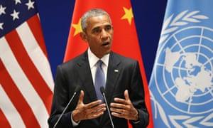Barack Obama at joint ratification of Paris climate change agreement