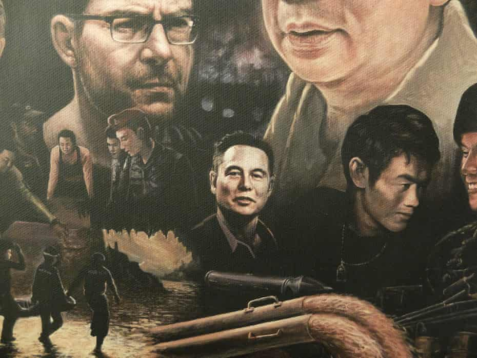 Elon Musk features in a painting at the exhibition