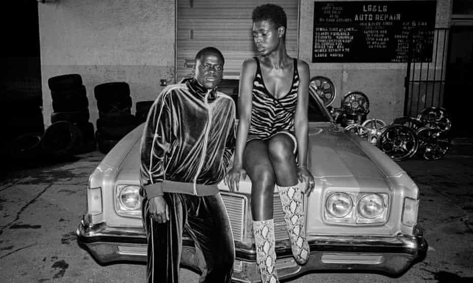 Daniel Kaluuya and Jodie Turner-Smith in Queen & Slim