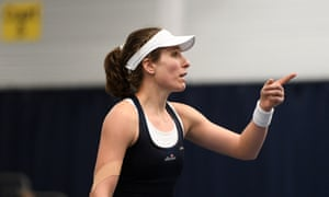 Johanna Konta points the finger on a controversial day's action in the Fed Cup.