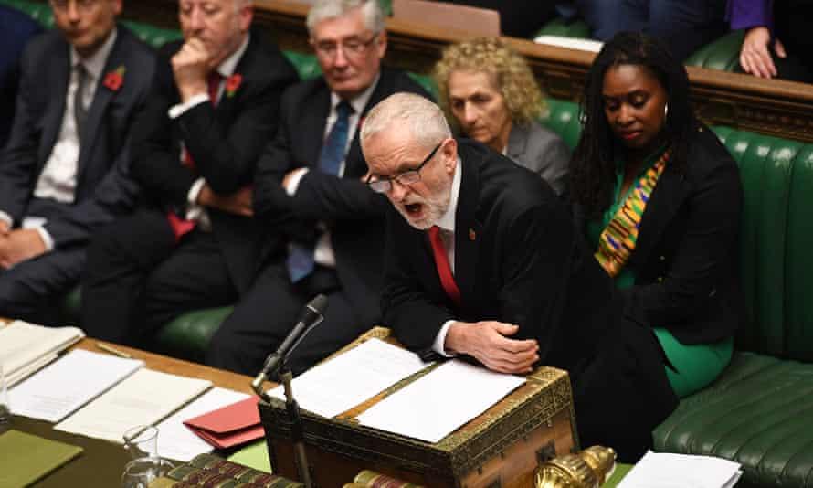 Jeremy Corbyn in parliament