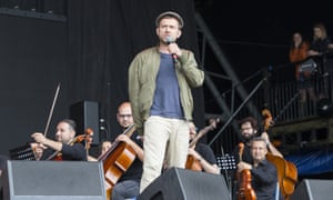 Damon Albarn with the Syrian National Orchestra.