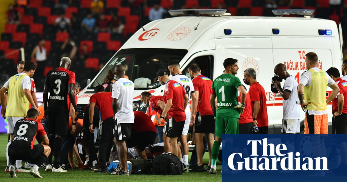 Fabrice Nsakala of Besiktas recovering in hospital after on-field collapse