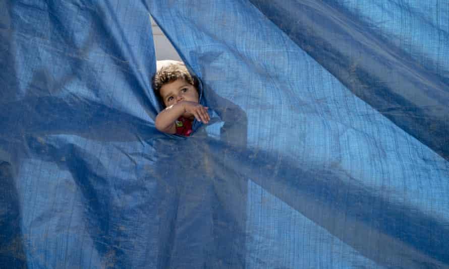 A child in Baharka IDP Camp on the outskirts of Erbil, Kurdistan, Iraq