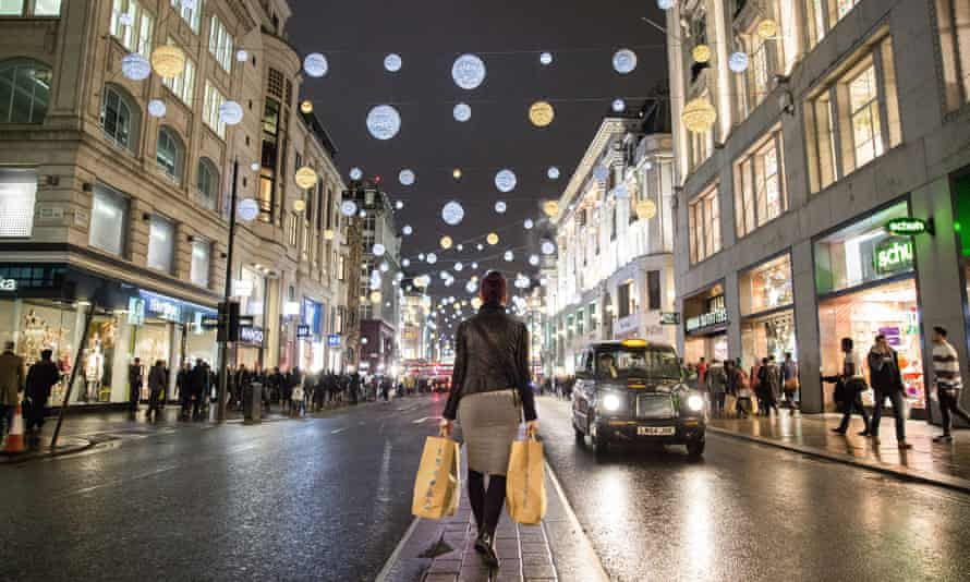 Across the UK, high streets have been unusually quiet: London's Oxford Street last week.