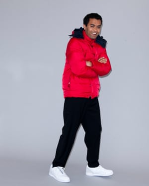 Priya in padded jacket