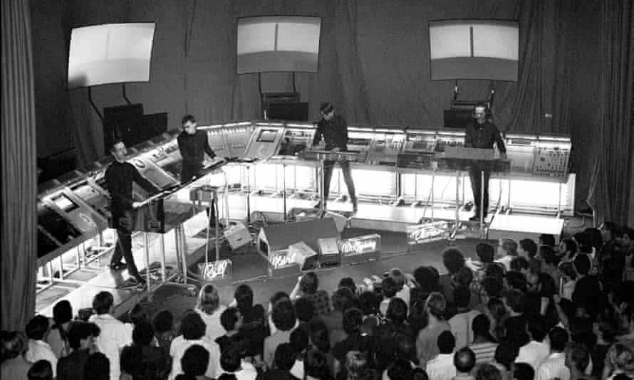 Kraftwerk performing at the Ritz in New York in 1981