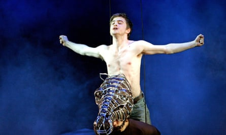 Daniel Radcliffe and Will Kemp in Equus at the Gielgud theatre, London, in 2007, directed by Thea Sharrock