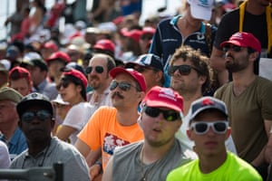 Fans watch the action from the grandstand