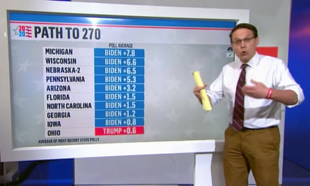 MSNBC's Steve Kornacki presents US election coverage in khaki trousers
