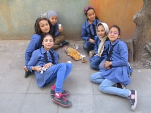 My schoolmates taking a break during recess. They look so happy and sweet