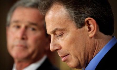 Tony Blair and George W Bush in 2003