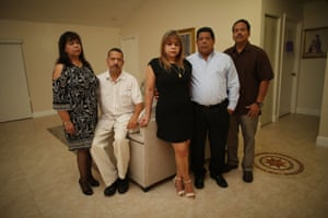 From left to right: Nora Franco, Pedro Franco, Margarita Navarro, Edgar Franco and Miguel Ángel Franco. Their parents, Miguel Antonio and Cecilia, were among the fatalities. The family has filed a lawsuit against the nursing home's owners.