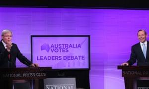 Kevin Rudd and Tony Abbott.
