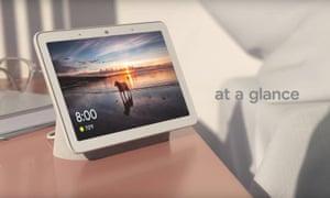 The Google Home Hub smart display.