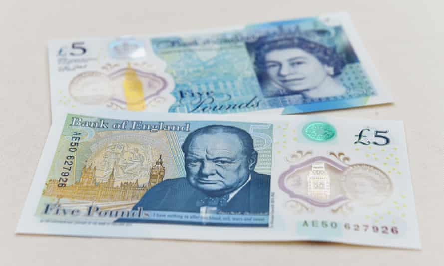 The new polymer £5 note entered circulation in September.