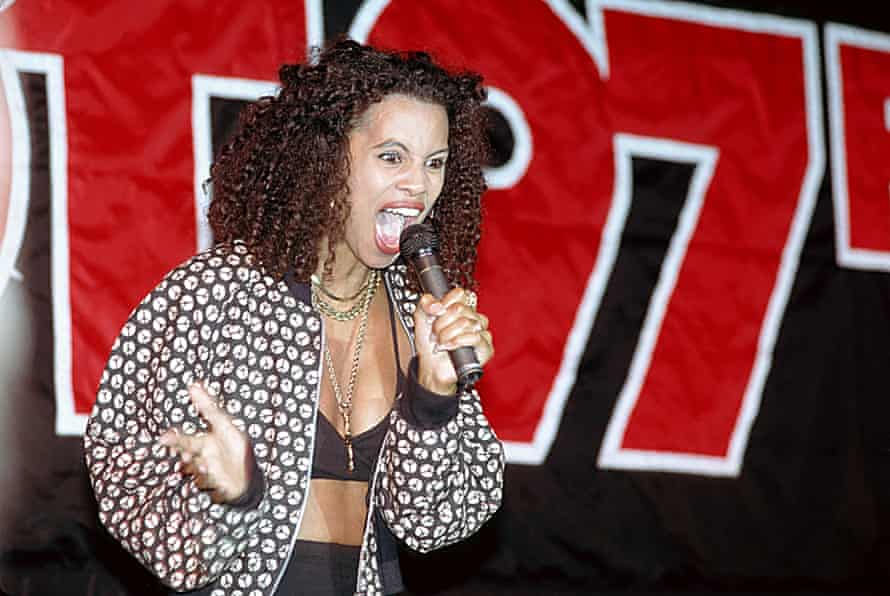 Neneh Cherry, who worked closely with Judy Blame, in 1989.