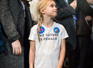 A young Hillary Clinton supporter is now facing a different future