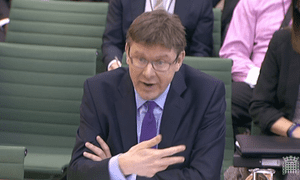 Greg Clark being questioned by the business select committee.