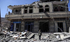 A house destroyed by a Saudi-led coalition airstrike last week on the Yemeni capital, Sana'a.