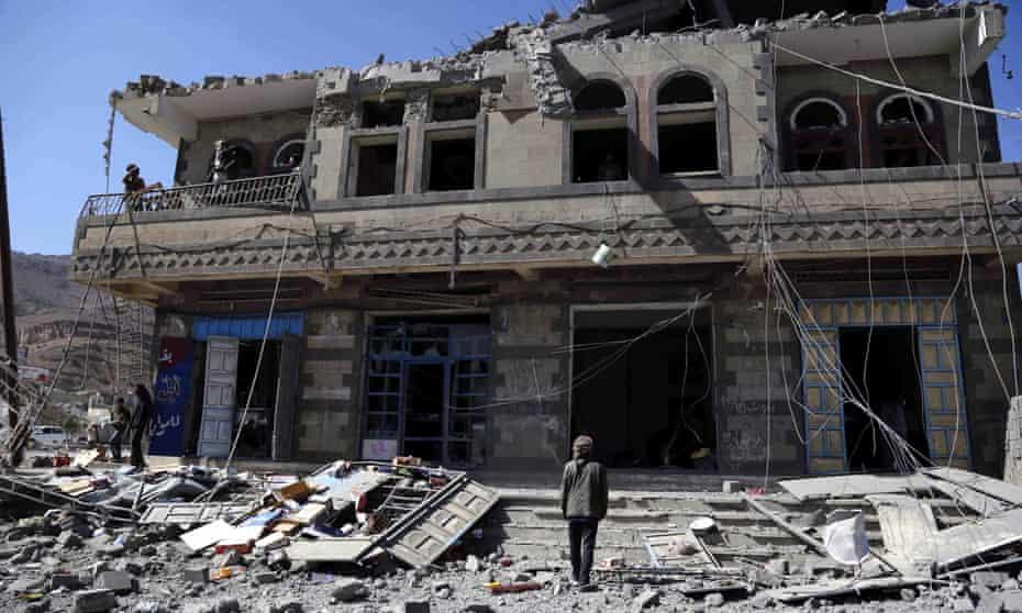 A house destroyed by a Saudi-led coalition airstrike last week on the Yemeni capital, Sana'a.