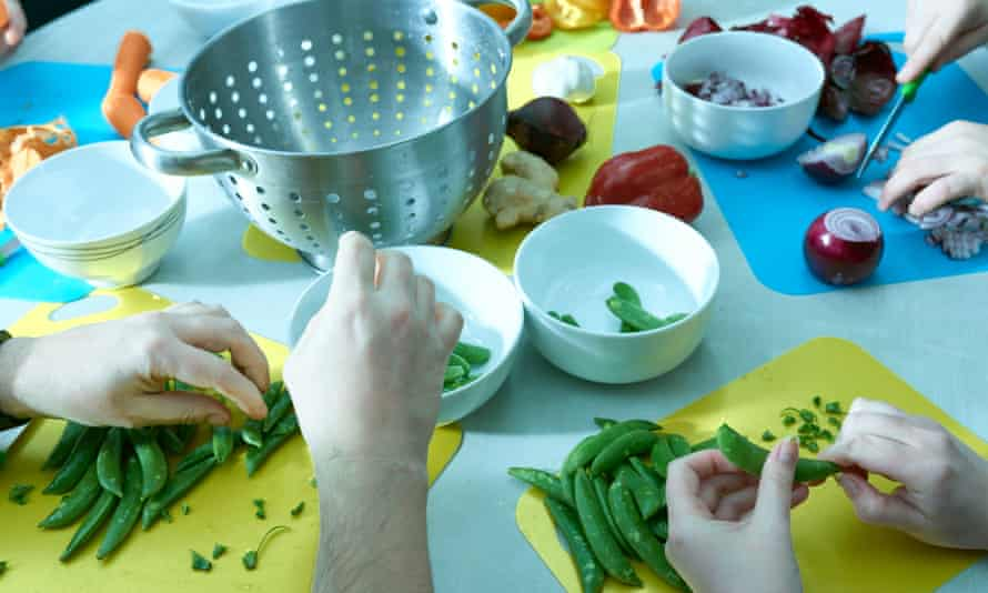 A cookery class run by the not-for-profit company, Community Stuff, in Eastbourne.