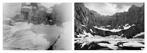 Mona Miri's Diptych, Melting Glacier - Iceberg Lake